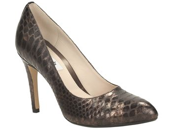 Always Chic in Metallic Bronze at Clarks £70