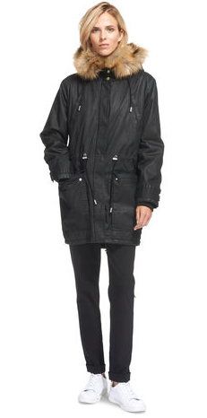 Whistles Marley Waxy Parka £170 black only