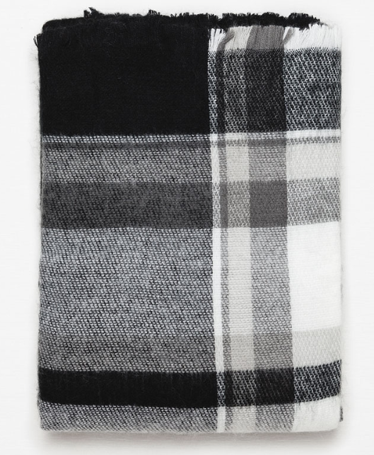 Zara Checked and Striped Scarf £17.99