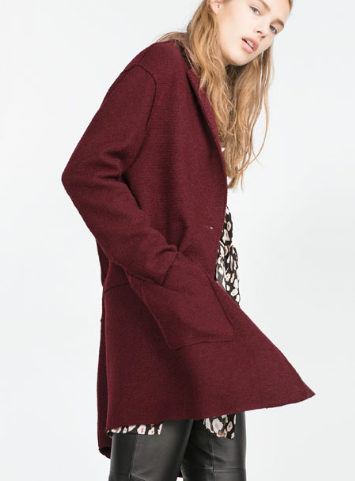 Zara Wool Coat £59.99