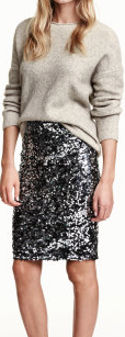 Sequinned Skirt £29.99 H and M
