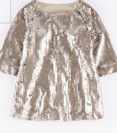 Boden Statement Sequin Top £119 in grey or navy