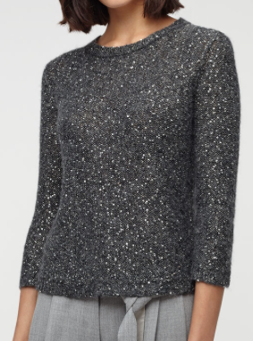 Jigsaw Half Sleeve Jumper £89 in grey and oyster