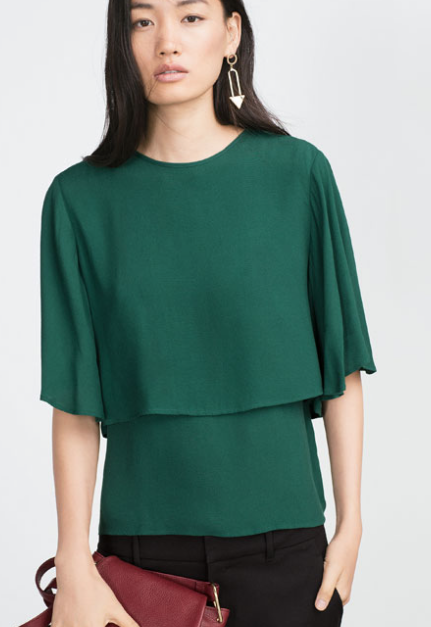 Layered Blouse £29.99 Zara