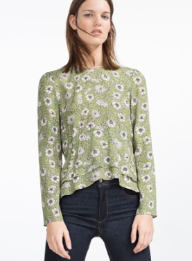 Zara Printed Blouse £39.99