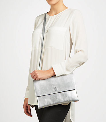 Kin Across Body Bag in silver £59