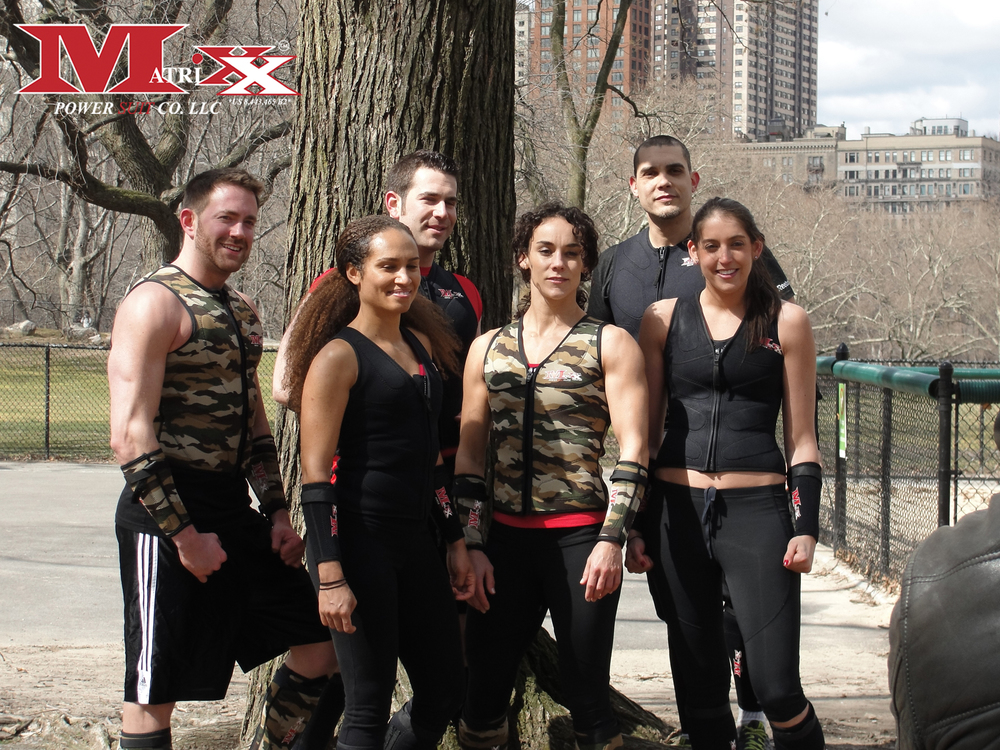 Calvin w Crossfit Athlete Megan Maye for Matrixx Boot Camp in Central Park 2013