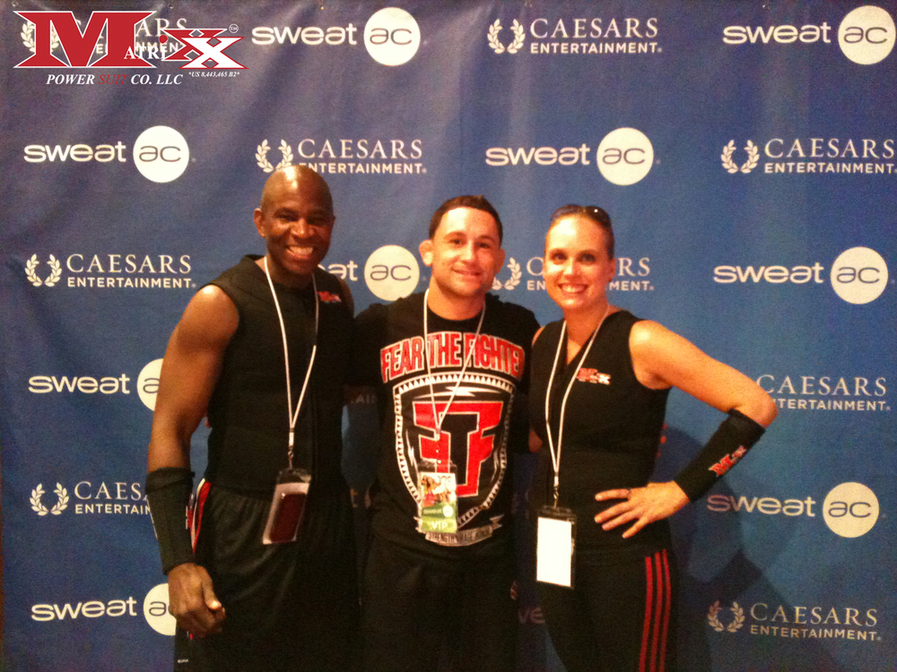 "Calvin & Holly w MMA fighter ""Frankie Edgar"" @ Sweat AC fitness Expo 2012"