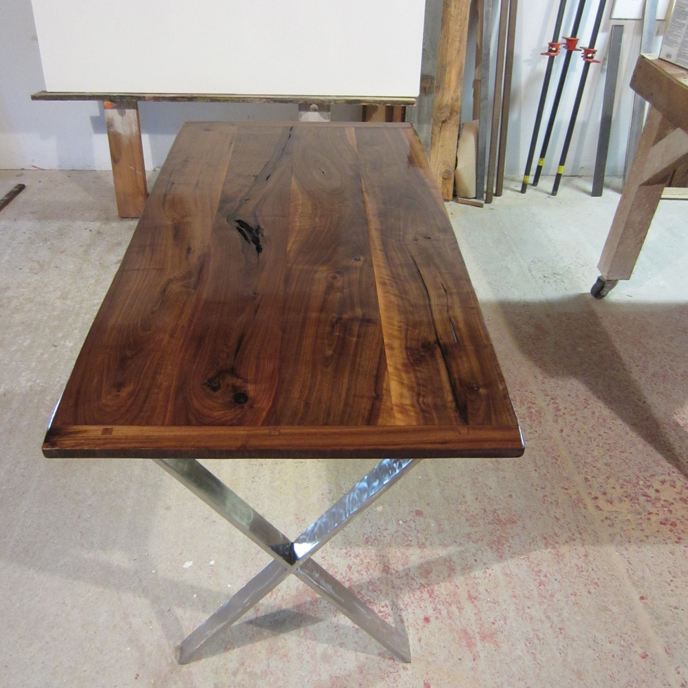 Black Walnut with Cold Rolled Steel