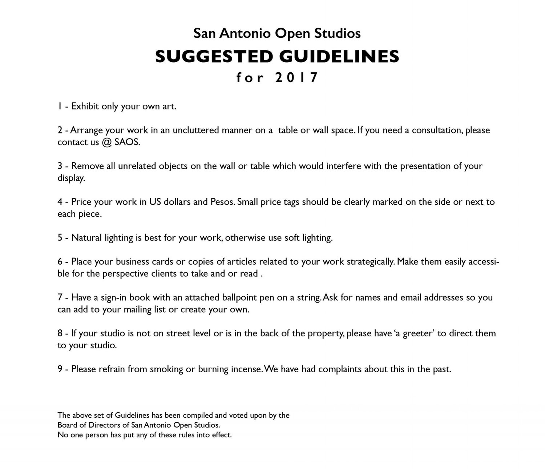 guidelines — san antonio open studios