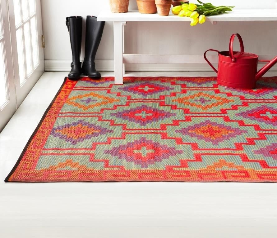 Red Fades First, But Not This Rug. The Yarn Is Solution Dyed Acrylic.