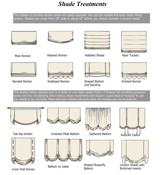 These are just a few of the options for window shades.