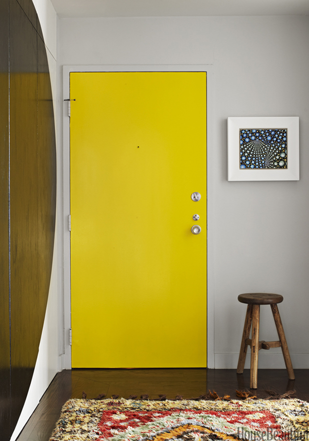A boring door suddenly looks like a piece of art with a hue change.