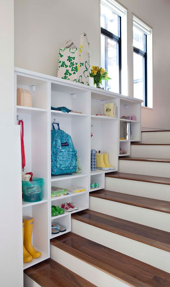 Get creative with areas over the stairs!