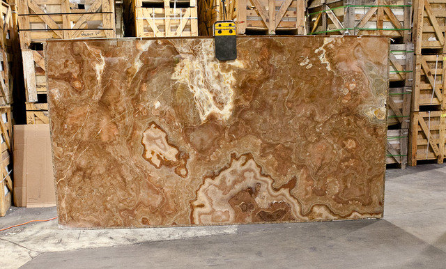 When you go to the stone yard, expect to see the whole slab. This is the right way to pick your slab.
