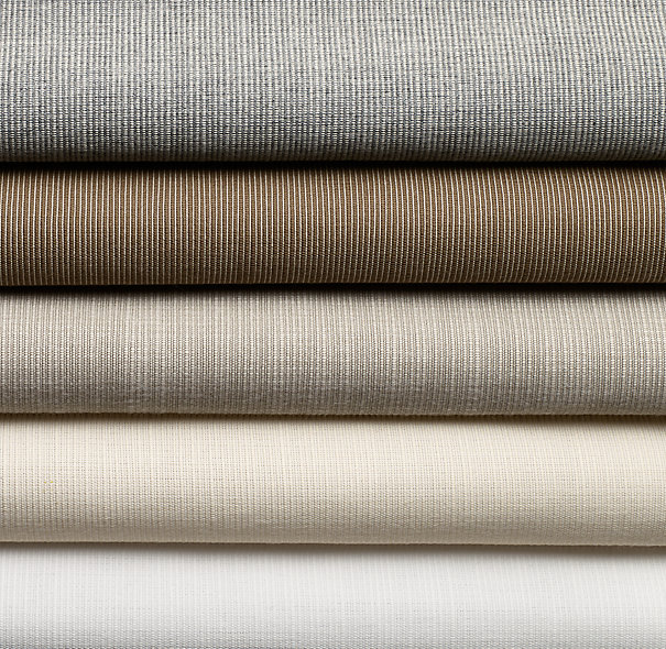 Restoration Hardware has teamed up with Perennials to offer their solution dyed acrylic fabric for upholstery on many pieces of their furniture.