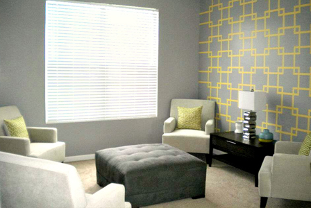 tips-to-painting-a-statement-accent-wall-gray-accent-wall