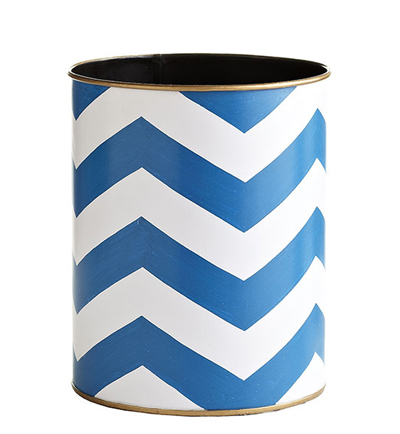 Blue-Chevron-Wastebasket