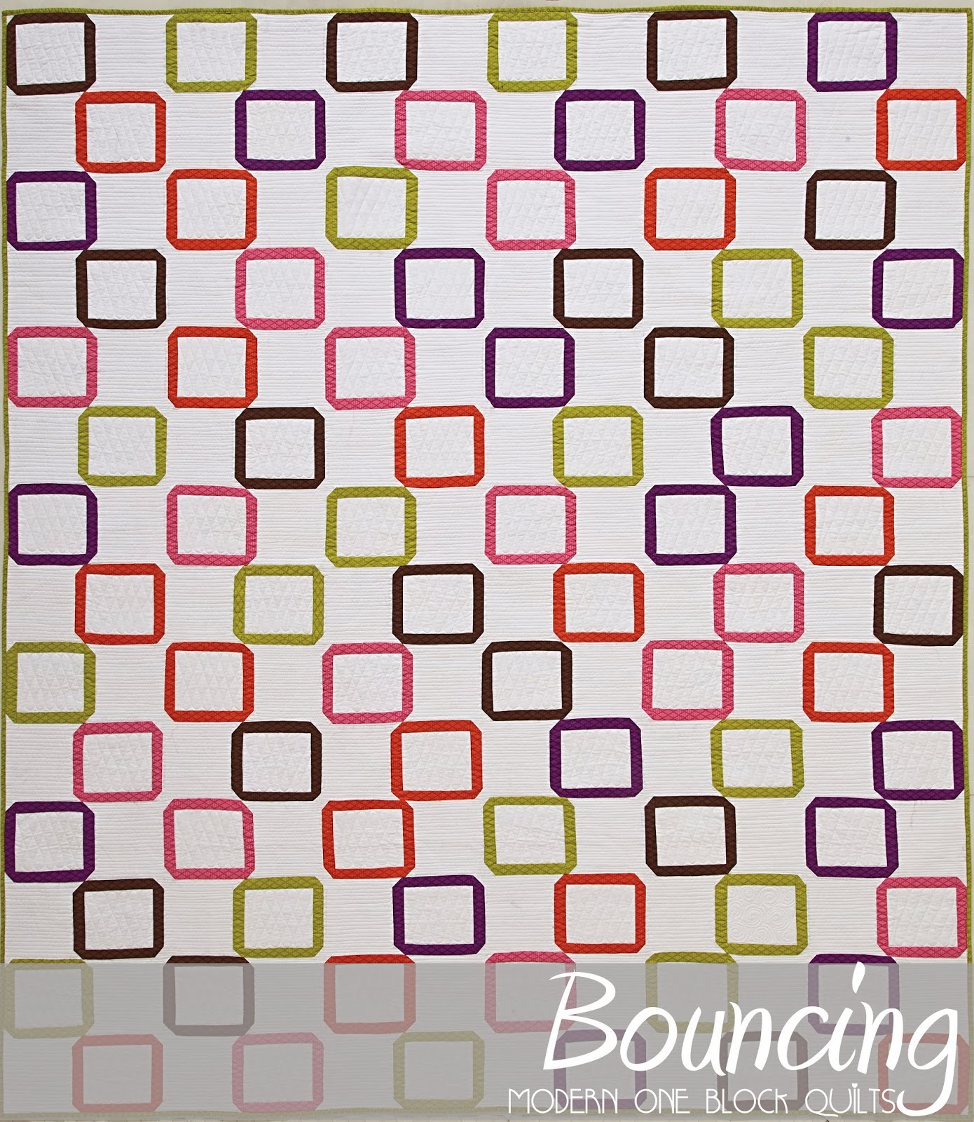 Bouncing pattern published in Modern One Block Quilts