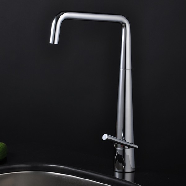 Contemporary Brass Kitchen Faucet 0725