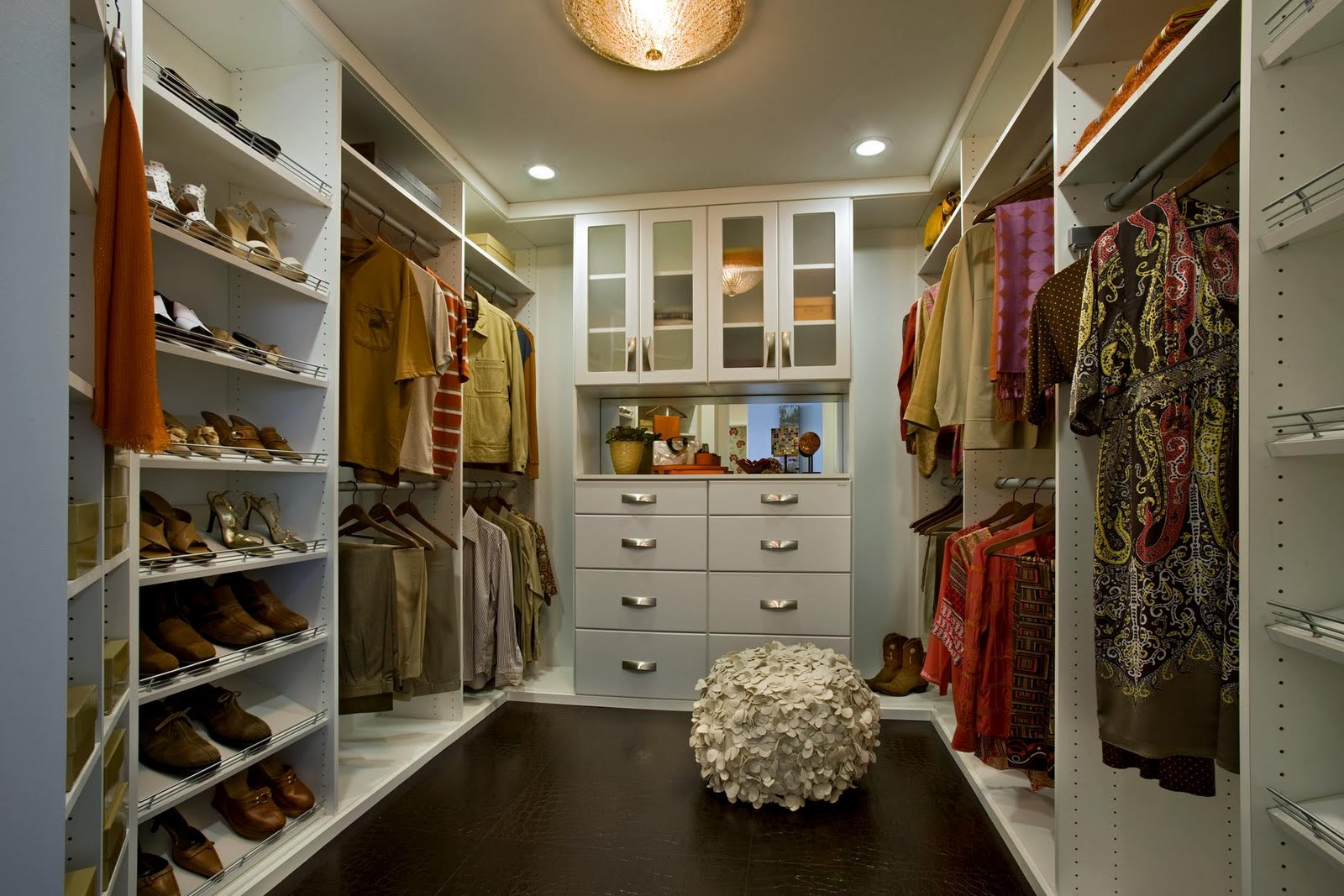 furniture-beautiful-white-walk-in-closet-design-inspiration-with-socks-white-drawers-and-white-pouffe-best-walk-in-closet-design-inspiration