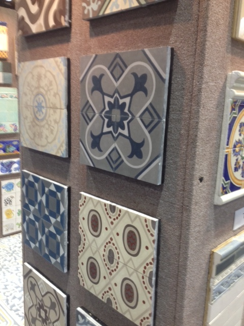 Cuban art influence seen in these tiles.