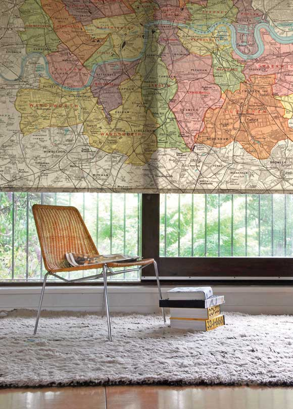 How do they do that?  Is the map screened onto the fabric and then made into the shade?
