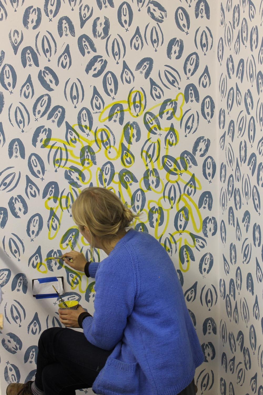 hand printed wallpaper  Day 111: Hand Blocked Wallpaper — MJG Interiors, Manchester, Vermont ...