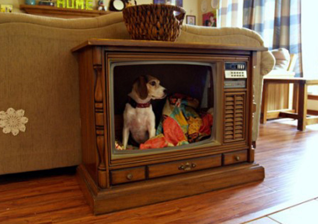 Look what you can do with all those 1970's TV sets!!