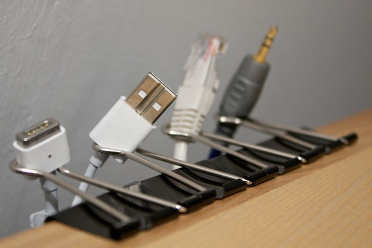 Binder clips!  How clever!