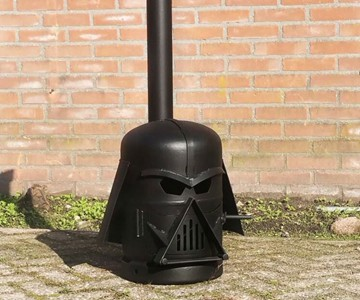 This is for all you Star Wars fans!  Its a wood stove!