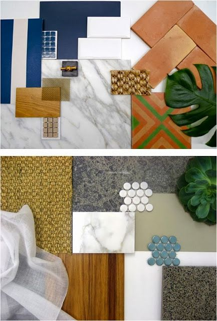 A mood board of textures and fabrics to inspire! Individually, each of these elements seem very different, but by pulling them together we can visualize how they can work together in creating a unique space. Seems this decorator is also feeling a little jungle fervor!