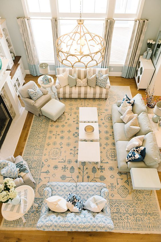 "A rug can be the ""soul of a room"", where the color scheme, furniture, furniture placements and accessories all connect back to it."