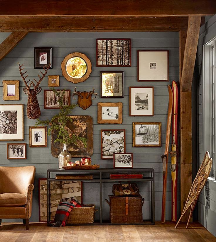 This cozy collection adds an authentic warmth to this rustic room.