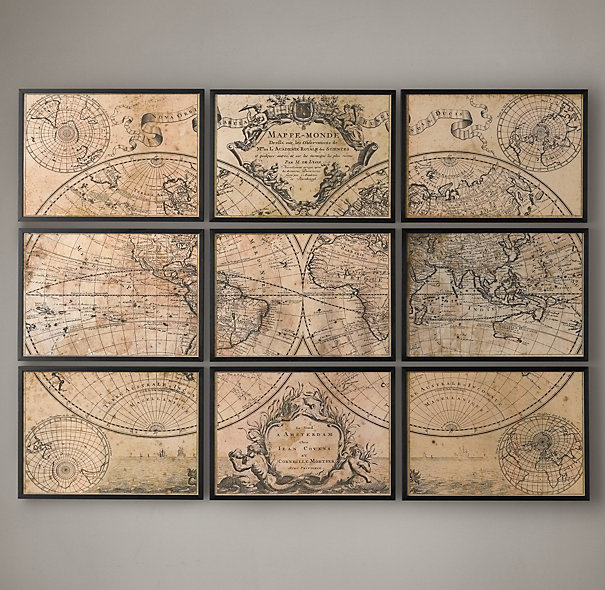 We have a mild obsession with maps over here at MJG Interiors so I had to include this cool, old world map for inspiration!