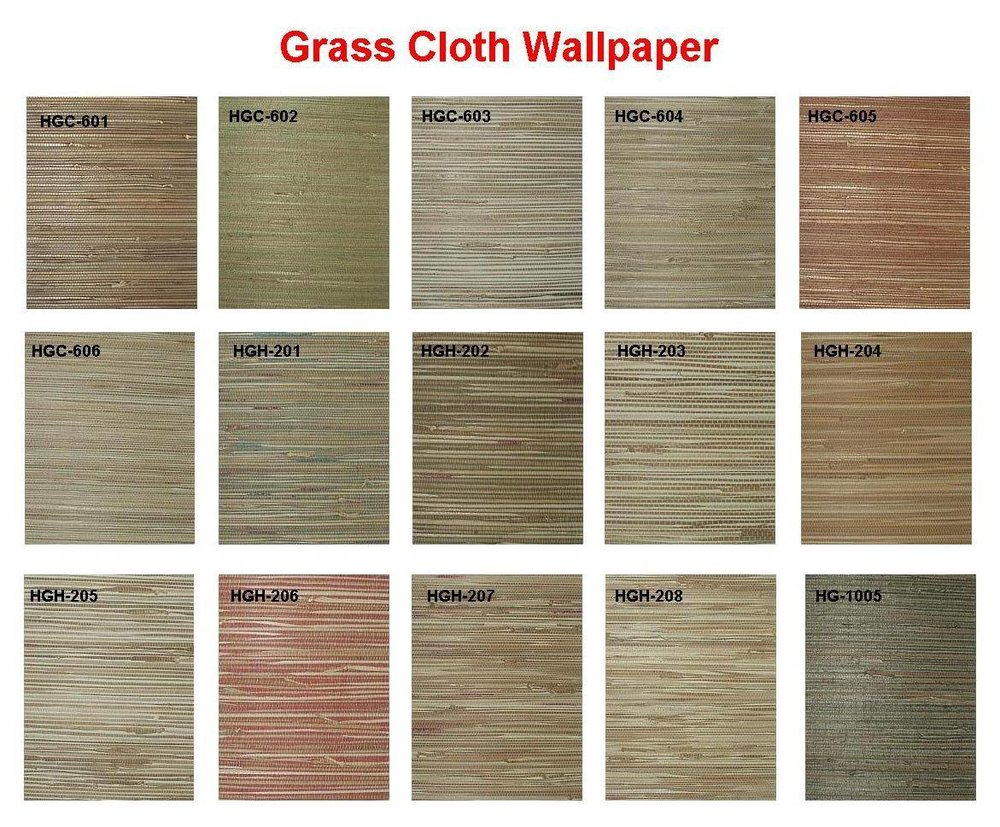 Here are just a few of the many styles and colors now available in grass cloth.  This gives a stunning result in any room.