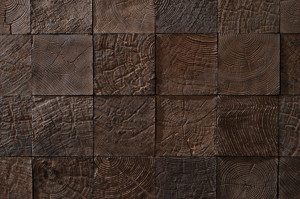 Oh, the texture you can create with this wood tile!  It looks like the end butts of timber.
