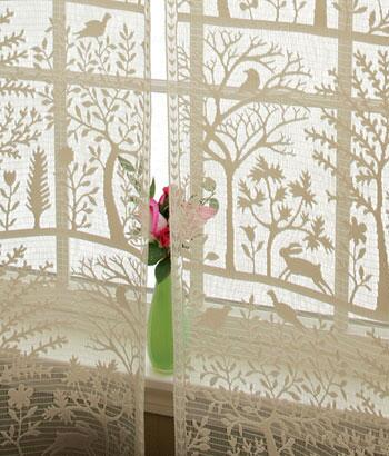 "The ""Tree of Life"" silhouette as seen here in the curtains from  Country Curtains  can add a bit of whimsy to almost any space."