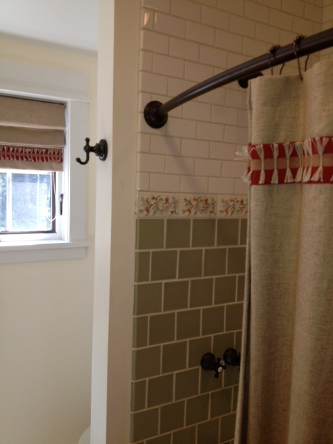Don't forget to hang a robe hook by the tub or shower.  You won't regret it!  Neither will your guests!