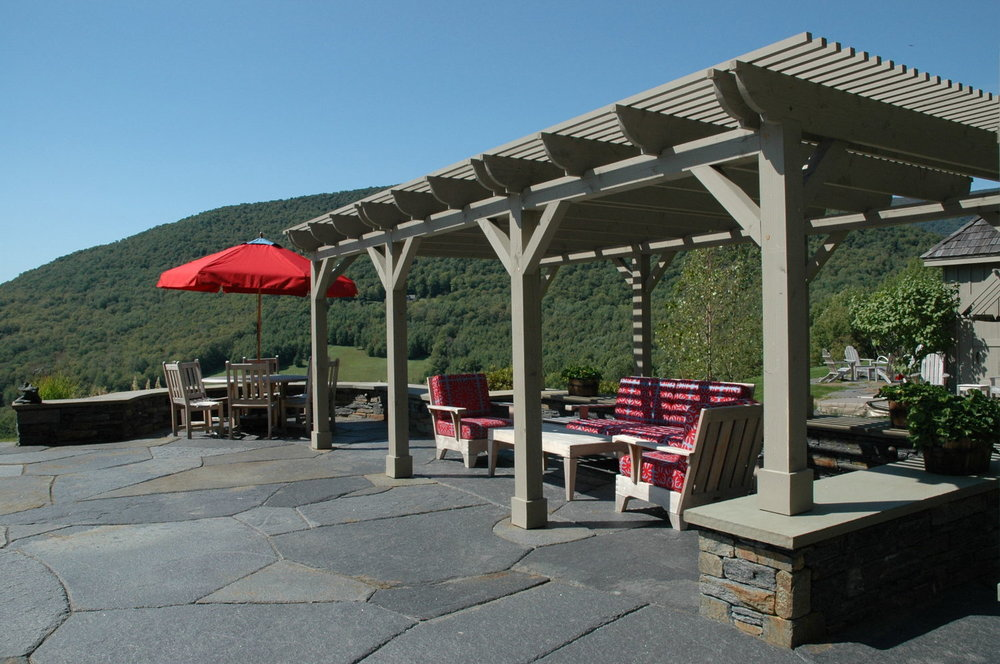 Functional and Beautiful!  This pergola was designed using the geographic location in order to provide the proper amount of shade most of the year.   Thanks Ramsay Gourd Architects for your keen understanding of how this all went together!