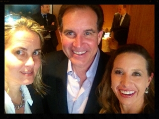 Katherine with Jim Nantz and his wife at the NFL-GE Announcement, 2013