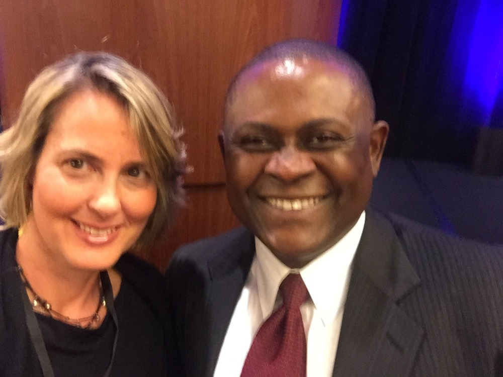 Meeting Dr. Bennet Omalu at Santa Clara Brain Injury Conference, Feb, 2015
