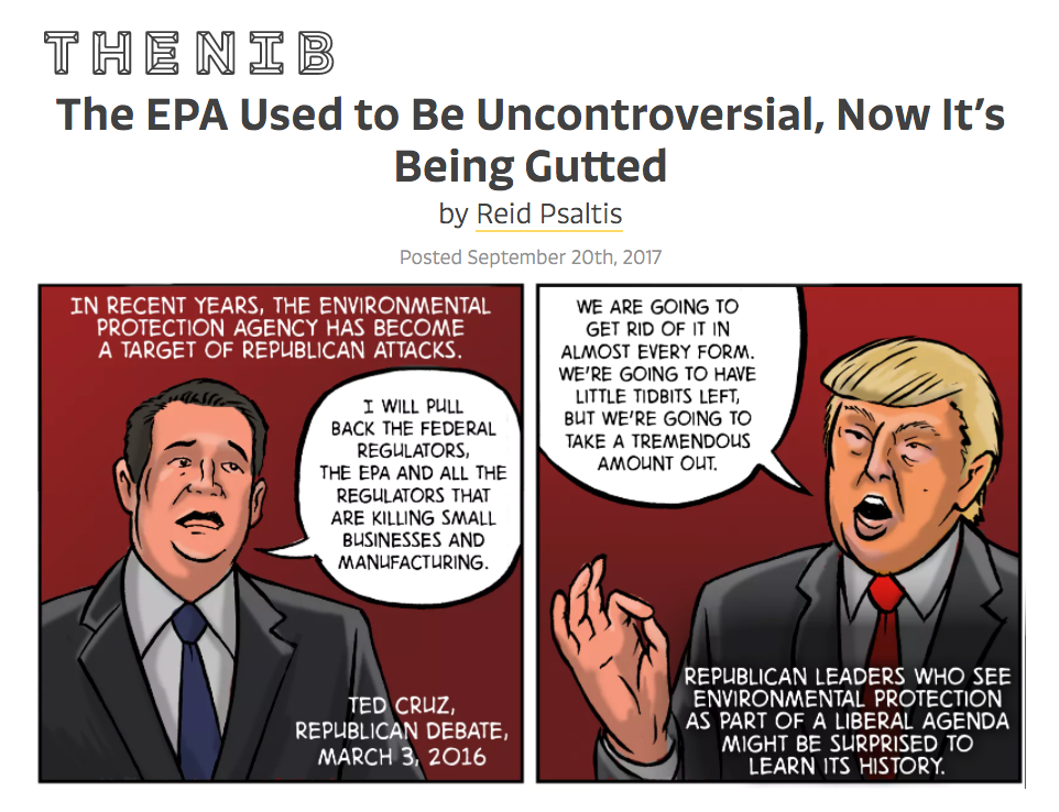 """The EPA Used to Be Uncontroversial, Now It's Being Gutted"" for The Nib"