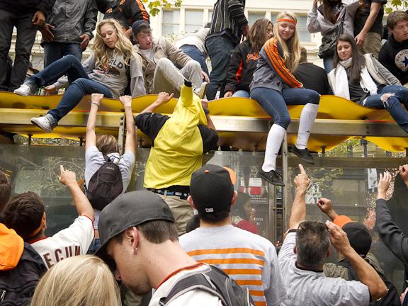 2012 SF Giants World Series celebration. Market Street, San Francisco, CA./ ©Stella Kalaw
