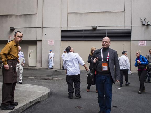 Employees Gathering on Stevenson Street. San Francisco, CA/ ©Stella Kalaw