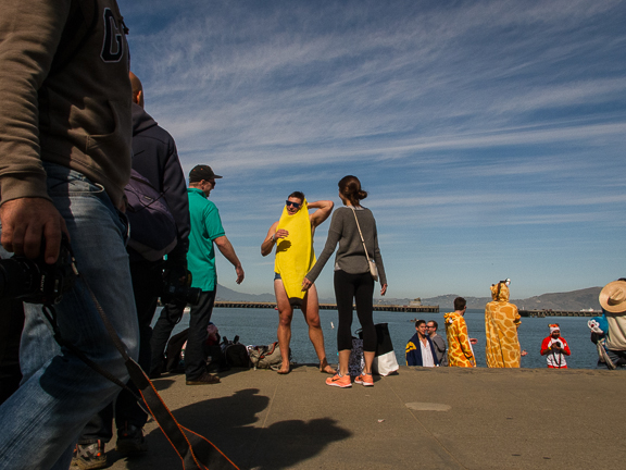 Man in Yellow Costume. Aquatic Park. San Francisco,CA./ ©Stella Kalaw