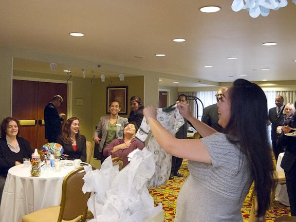 Naomi opening gifts.San Francisco, CA./ ©Stella Kalaw