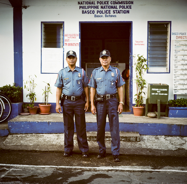 Police Officers Oscar Velasco and Lucio Come. Basco, Batanes. Philippines/ ©Stella Kalaw