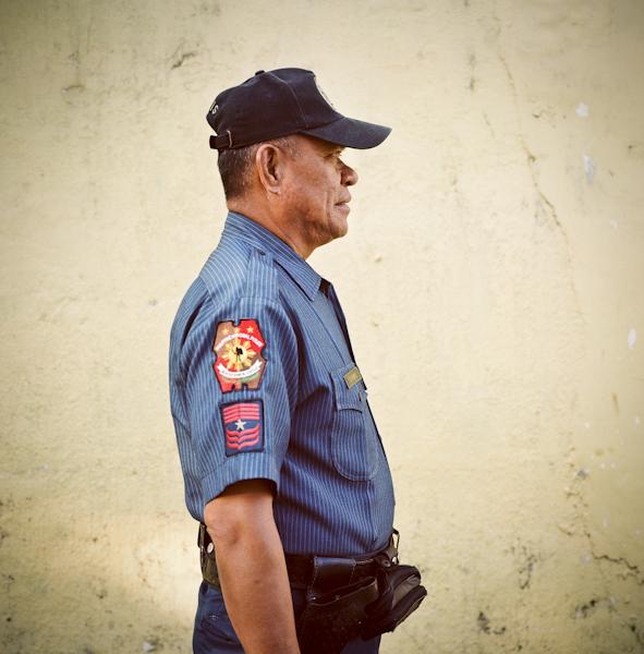 Police Officer Oscar Velasco. Basco, Batanes. Philippines/ ©Stella Kalaw