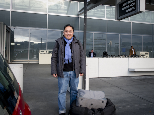 My brother at the International Terminal, SFO / ©Stella Kalaw